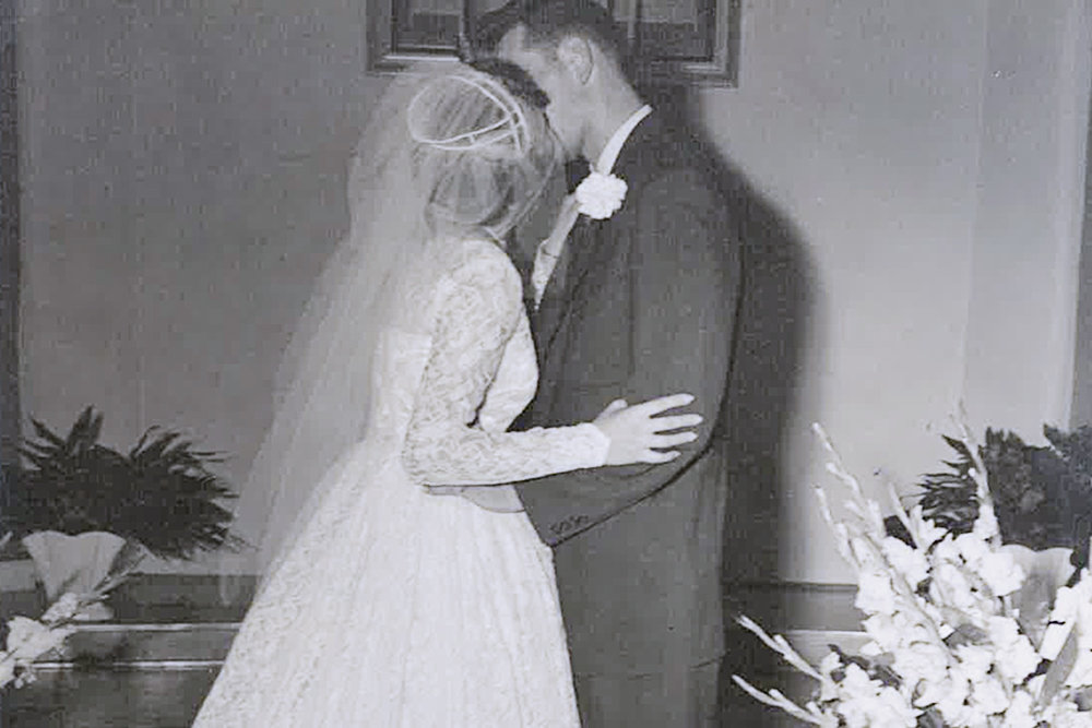 Harold and Darlene Bengsch are married in August 1957.