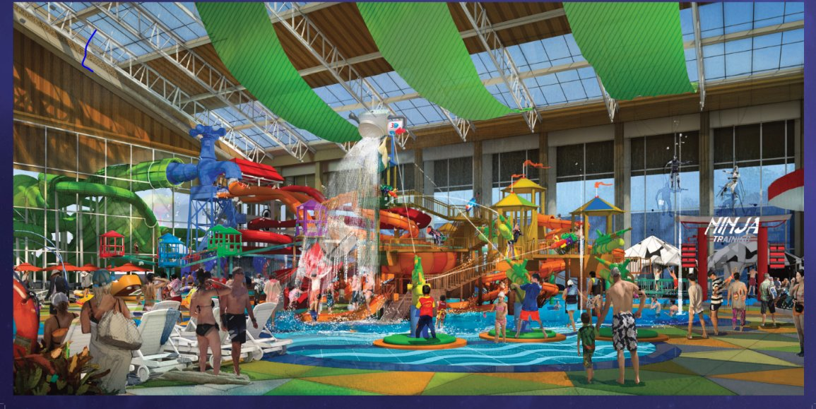 Project plans include an indoor waterpark.