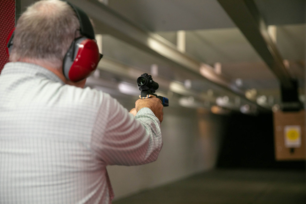 READY, AIM: The owners at Sound of Freedom USA say gun range rentals are up 20% this year, citing increased anxiety over recent current events.