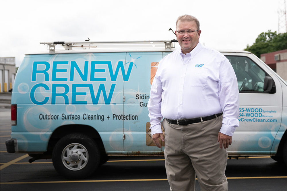 AT HOME: Franchisee Jerry Lesh says Renew Crew of Springfield is on pace to increase annual revenue to $600,000 this year.