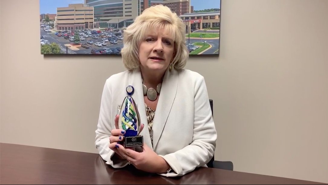 Lisa Alexander accepted three awards on behalf of the CoxHealth Foundation.