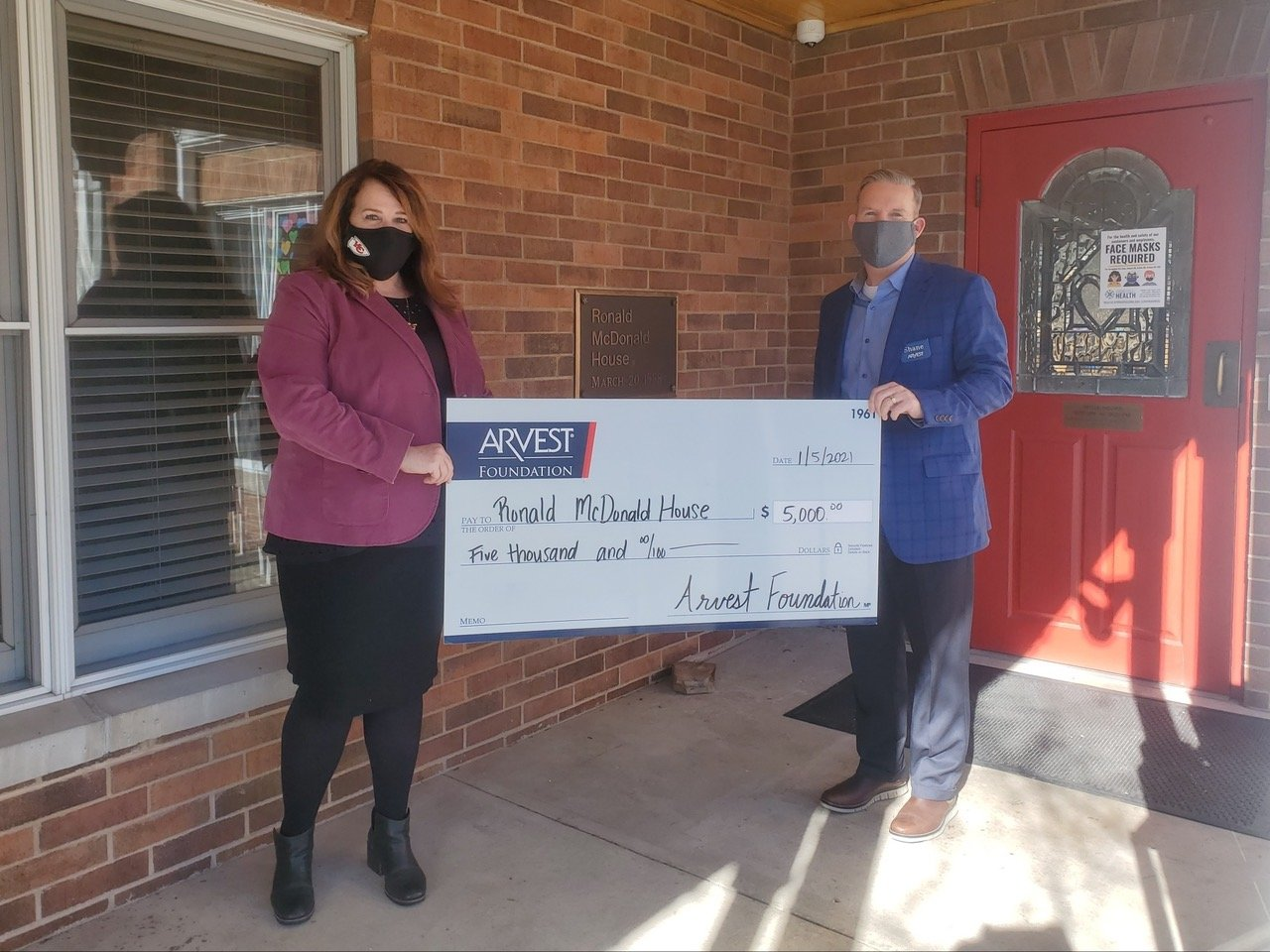 Ronald McDonald House Charities of the Ozarks receives $5,000.