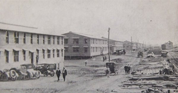 Camp Dix in Wrightstown, New Jersey in 1917, where Sullivan County draftees were sent for training.