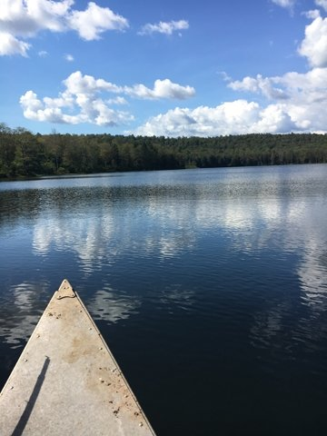 Fishing in warm weather for trout can be found in one of the many beautiful trout lakes and ponds in Sullivan County - either fishing from shore or in a boat or canoe.