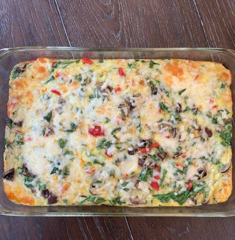 This frittata was a great way to bring my family around the table and eat some delicious food.