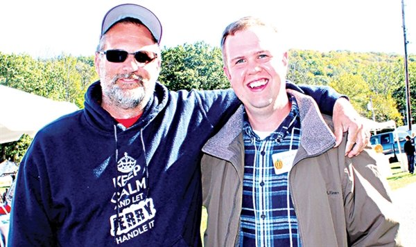 Only in small town politics will you find political opponents embracing each other. Such was the case at the Grahamsville Giant Pumpkin Party earlier this month as two friends, Jerry Stevens, left, the Democrat candidate for Town of Neversink Justice posing with Republican (Independent) candidate Brent Gotsch.