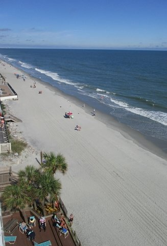 The beach view alone is relaxing at the Water's Edge in Garden City, South Carolina.