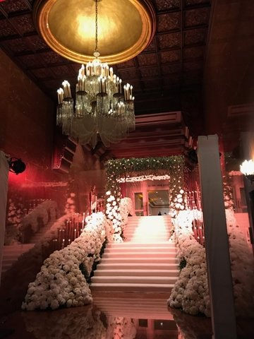 The entrance to the wedding reception at El San Juan Hotel.  You know, understated.