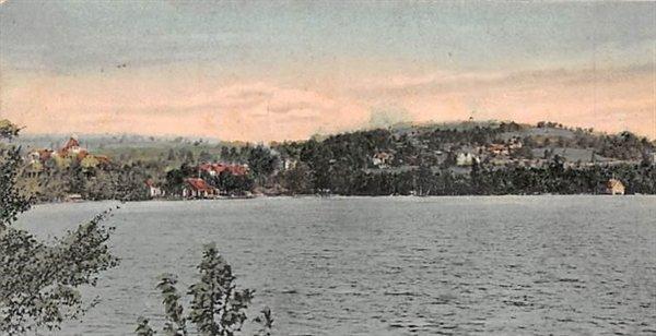 A view of Round Top across Kiamesha Lake.