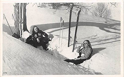 A publicity photo for Christmas Hills ski area in Livingston Manor.