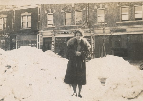 Nellie Childs Smith, shown here in front of her Monticello law office, was the first Sullivan County woman to practice law, and the first woman to run for countywide office, losing in her bid to be Special County Judge in November of 1927.