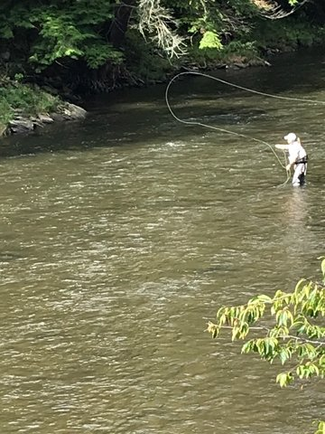 Fly-fishing is not difficult to learn; similar to riding a bicycle, it just takes practice. Strength is not required, but rhythm and timing is necessary for an accurate cast.