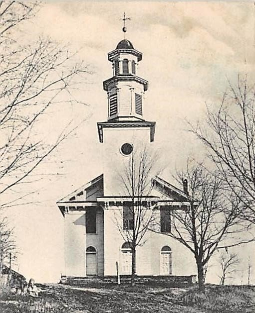 The Dutch Reformed Church in Bloomingburg, completed in 1822, still stands.