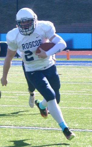 Roscoe's Aaron Steele (pictured in their game against Sullivan West earlier this month) led his team in rushing on Friday, with 86 yards on the ground. His 63-yard TD run gave Roscoe the lead late in the fourth quarter.