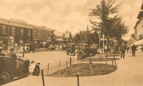 A section of Broadway in Monticello circa 1930, when it surpassed Liberty as the largest village in Sullivan County.