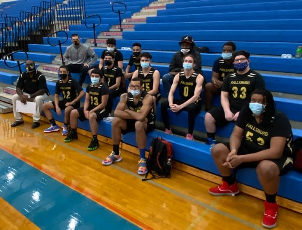 The 2021 Comets are, Bottom from left, Coach Lionel White, Carlos Alvarado, Mark Rodriguez, Nick Fraser and Akinde Bryan. Middle row, from left, JonCarlos Reyes, Andrew Rein Jr., Noah Moody and Mateo Scanna. Top row, from left, Coach Kainan Justiniano, Anthony Hernandez Sandoval, Isaiah Young, Eugene Johnson, Hasan Donaldson Jr.