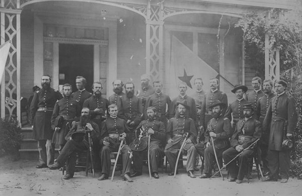 Officers of the 143rd Regiment shortly after the Battle of Atlanta.