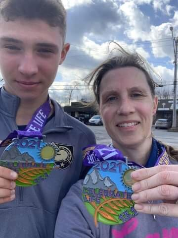 Tri-Valley standout runner Adam Furman and his mother Julie finished third in Celebrate Life's Lucia Rein Two People Relay.