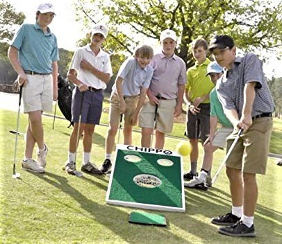 These young golfers enjoying the game of  Chippo which hopefully adds to a better short game.