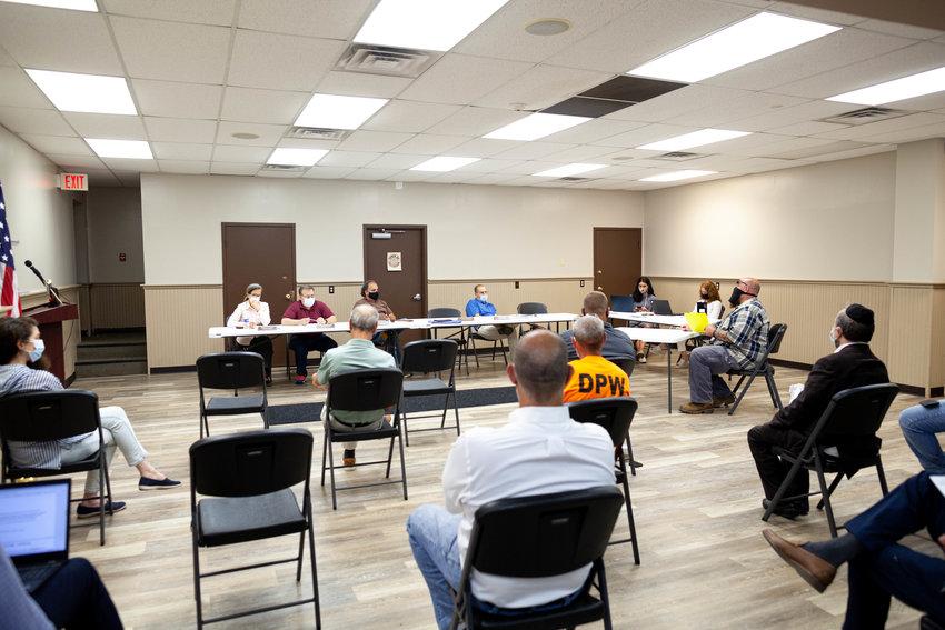 Monday's Fallsburg Town Board meeting.