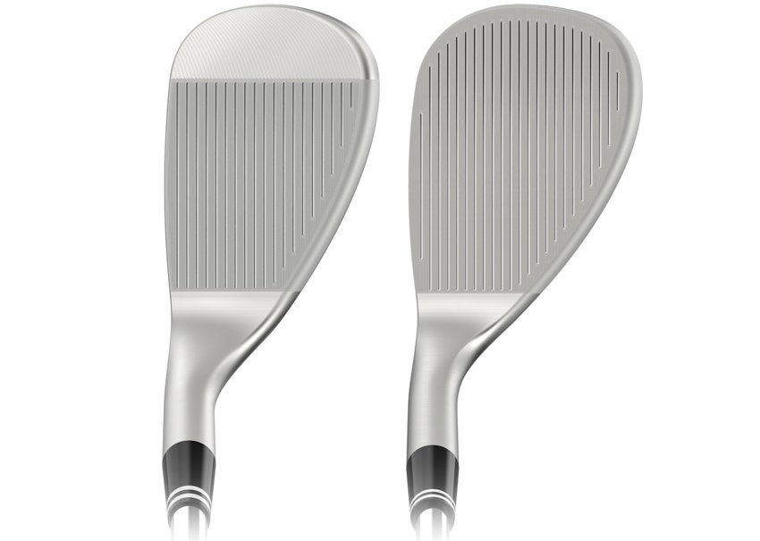 One can surely see the difference between the regular wedge on the left and the full face wedge on the right.