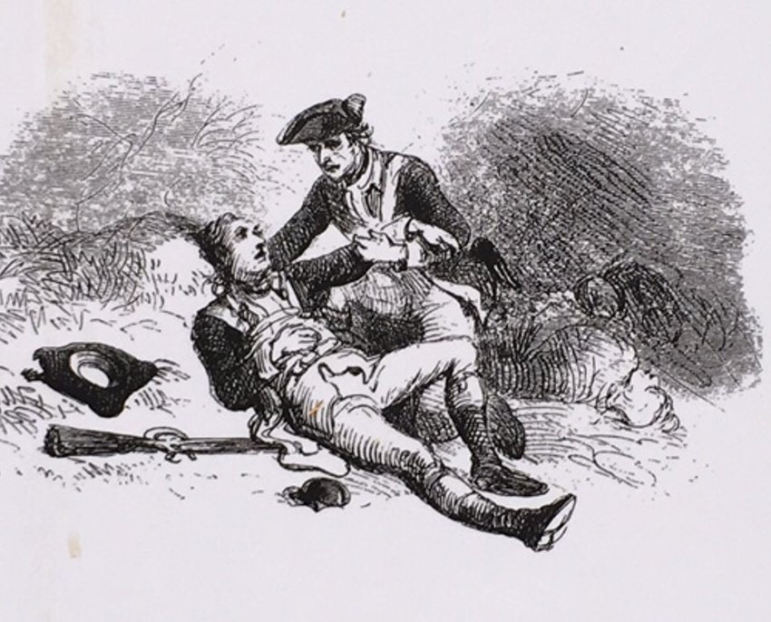 Dr. Benjamin Tusten was killed while attending to the wounded at what has become known as Hospital Rock.