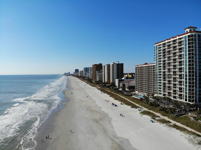 As for a lot of the East Coast shoreline, condominiums are very popular.