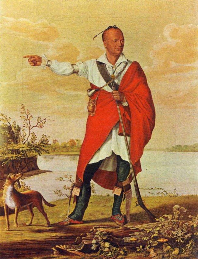 Joseph Brant as painted by William Berczy circa 1807.