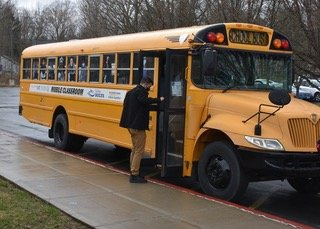 Previously used as a mobile classroom, this retrofitted school bus will be making the rounds of Sullivan County, bringing the Office for the Aging's services to area communities, courtesy of the County and Sullivan 180.