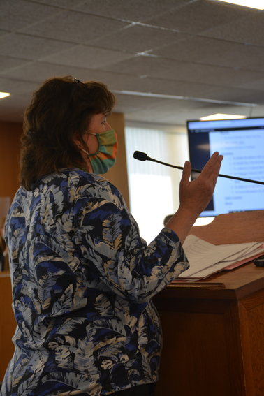 Nancy McGraw addressing legislators last Thursday.