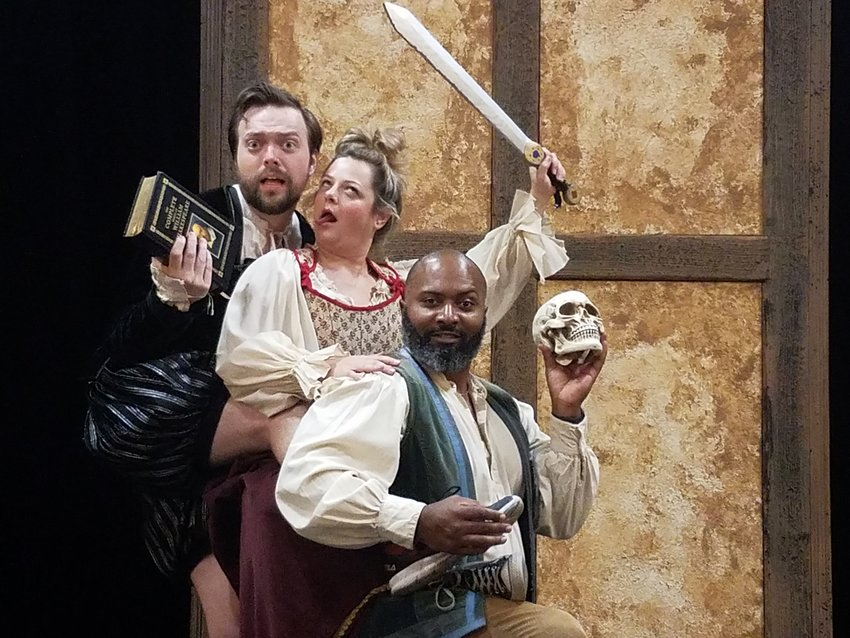 """James Taylor Odom, Julia Register and Brandon Rubin perform in Shadowland's """"Complete Works of William Shakespeare (abridged) [revised]"""""""