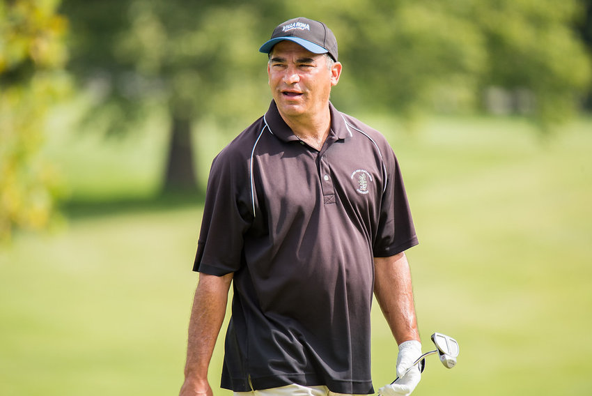 Ken Cohen at The Powelton Club during the first round of the New York State Senior Amateur Championship. The Jeffersonville resident finished tied for 10th in the 54-hole tournament.
