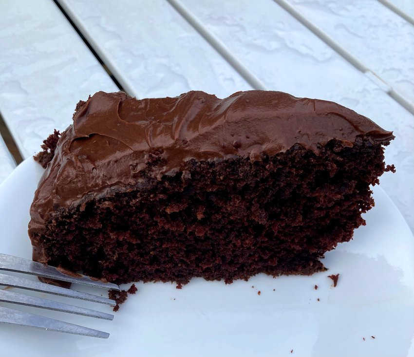 This delicious chocolate cake is easy to make and great for weekend get togethers.