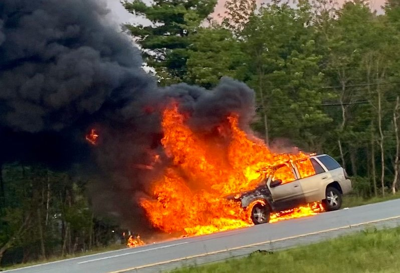 Rock Hill firefighters responded to this vehicle fire on what was a busy Wednesday night.