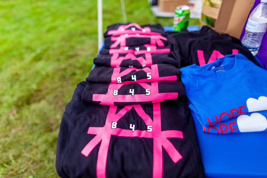 Merchandise was sold at the Hope 845 Bike and Music Festival, which helps raise money and awareness for missing persons in New York.