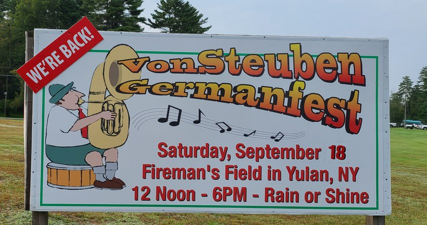 After a two year hiatus due to the pandemic the Yulan Fire Department is back with their very popular Von Steuben  German Fest. One of the Town of Highland's premier family friendly events featuring  food, beverages, live music from the Mountain Express Band, German folk dancing exhibition and plenty of activities for the children including making an Audubon wren birdhouse. Family admission is $5.00 and there is plenty of free parking.