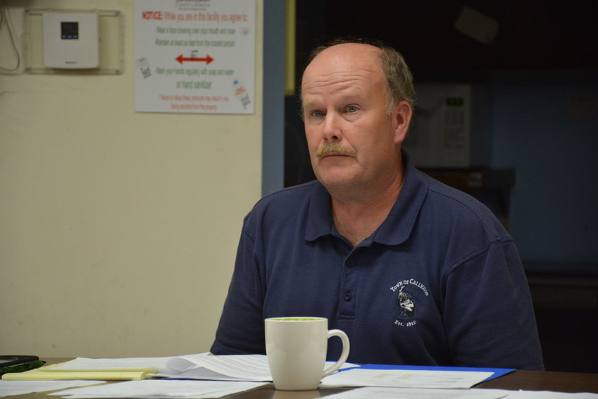 Callicoon Supervisor Tom Bose at Monday's meeting when two new local laws were passed by the town board.