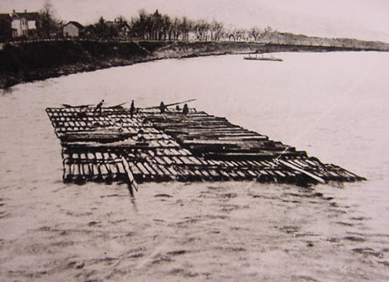 """Timber rafting on the Delaware, the region's first great industry, will be part of the presentation, """"From Timber Rafts to Turnpikes"""" at the Cochecton Preservation Society on Sunday, September 26 at 1 p.m."""