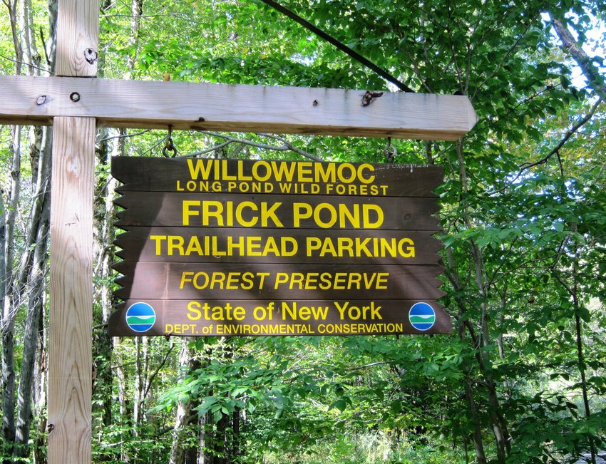 This woodland hike offers a 2.2-mile loop around scenic Frick Pond that is suitable for beginner hikers who are comfortable walking this distance.