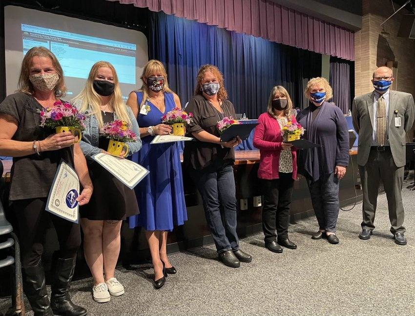 """At its September 23 regular meeting, the Monticello Central School District, in partnership with the Mid Hudson School Study Council held a """"Salute to School Nurses"""" in honor of the district's nurses."""
