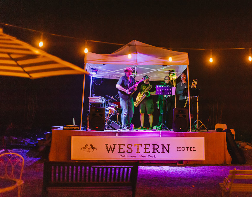 James G Barry Band performs at the Western Garden to round out Saturday night.