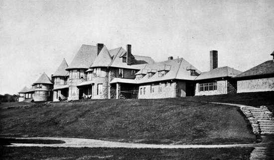 The original administration building at the Loomis Sanitarium burned to the ground on October 14, 1899.