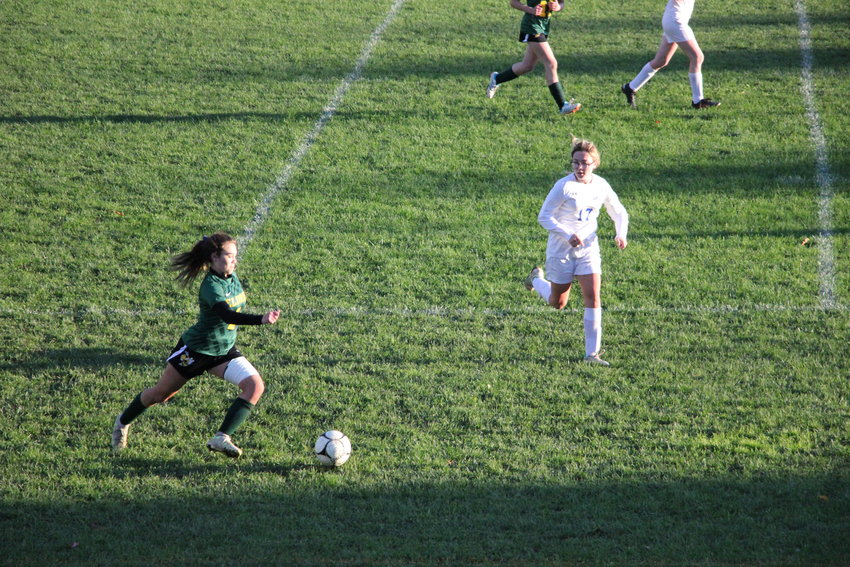 Jailyn Labuda scored twice for the Lady Yellowjackets in a non-league victory over Monticello.
