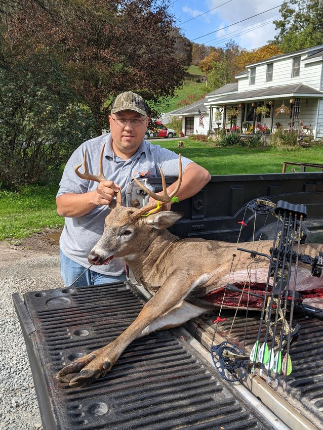Shane Cunningham of Bethel. The buck with a 65.78 score was harvested on October 7.