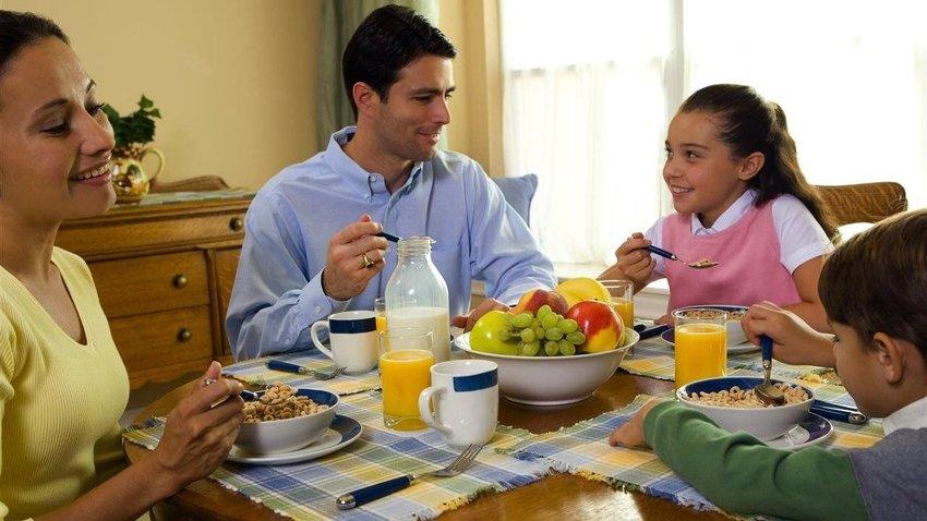 Take advantage of breakfast as a key family moment