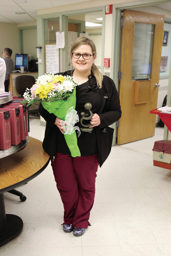 Sarah Plante, a registered nurse in Bothwell Regional Health Center's 2 Southwest medical unit, is Bothwell's latest DAISY Award recipient.