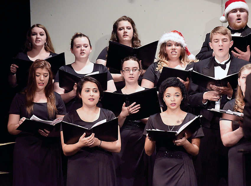 State Fair Community College music art students will present holiday concerts at 7:30 p.m. Friday and Saturday night in the Stauffacher Theatre. The cost for general admission is $8.