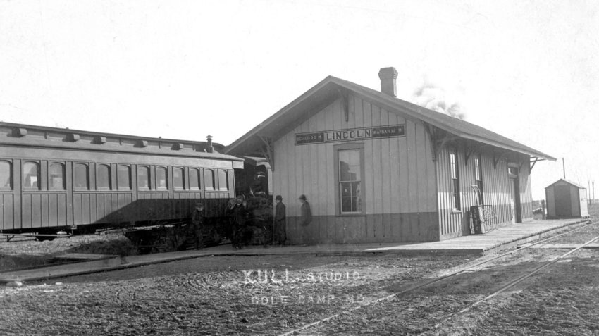 Pictured is the former railroad depot in Lincoln. When the rail line between Sedalia and Warsaw was connected in 1880 Lincoln saw a period of growth and prosperity as business located to the town.