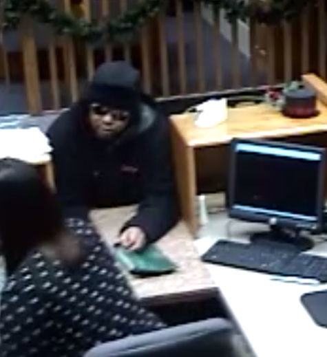 The Sedalia Police Department is asking for the public's help in identifying the black male suspect pictured above in connection with a Wednesday morning theft at Central Bank of Sedalia, 400 W. Broadway Blvd.