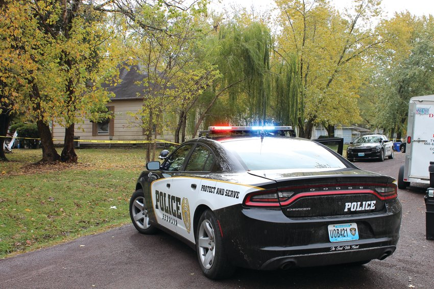 Sedalia Police patrol cars were blocking off the 1700 block of South Harrison Avenue around 11 a.m. Thursday as officers and detectives investigated the suspicious death of two males.